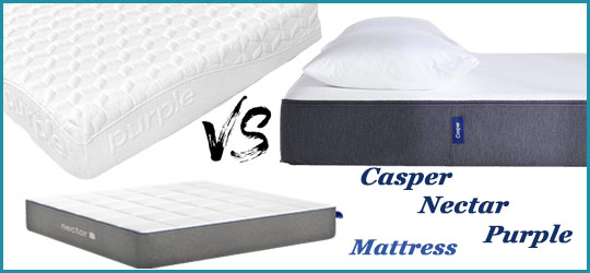 Casper vs Nectar vs Purple Mattress Comparison