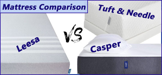 Tuft & Needle vs. Casper vs. Leesa