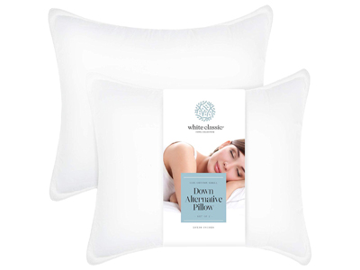 White Classic Down-Alternative Luxury Pillow