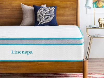 LINENSPA 12 Inch Gel Memory Foam Hybrid Mattress - Ultra Plush