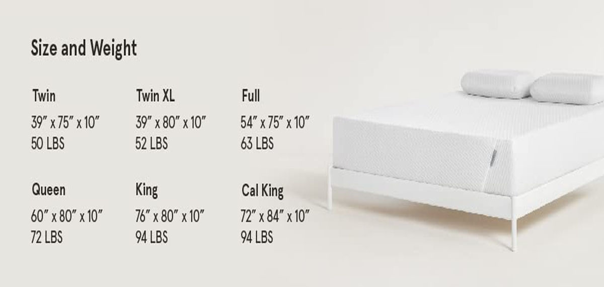 Size and Height of the Mattress