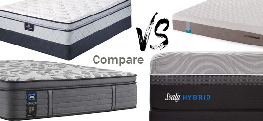 Posturepedic vs Tempurpedic vs Serta Compare