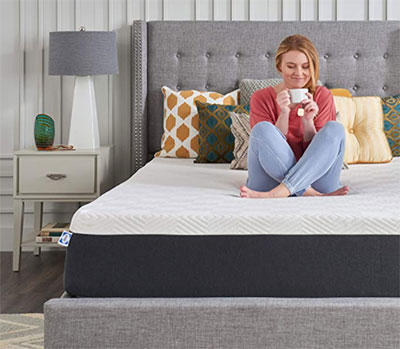 """Sealy 12"""" Hybrid Essential Bed in a Box with CopperChill - Medium Firm, Queen"""