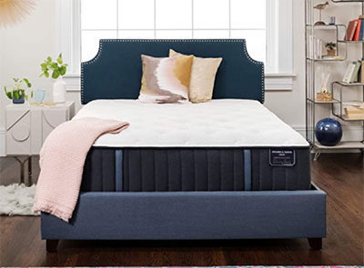 Stearns and Foster Estate, 14-Inch Luxury Firm Tight Top Mattress and 5-Inch Foundation, King, Hand Built in the USA